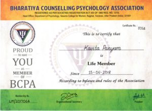 Bharatiya Counseling Psychology Association Kavita Panyam