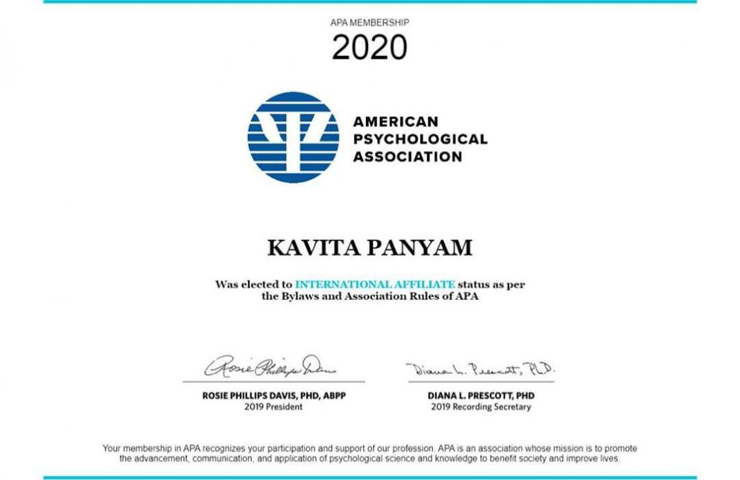 kavita panyam apa certificate