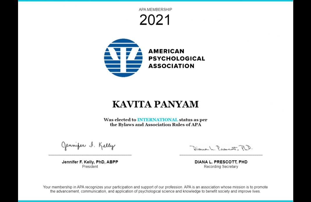 american psychological association kavita panyam